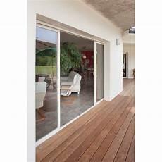 largeur baie vitrée coulissant alu h 215 cm x l 280 cm vitrage
