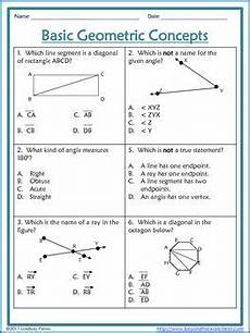basic geometry worksheets with answers 639 geometric concepts worksheet free activity with images quadratics worksheets angles math