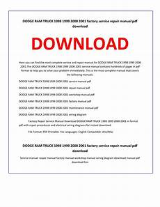 car owners manuals free downloads 1998 dodge ram 2500 club auto manual dodge ram truck 1998 1999 2000 2001 service repair manual by service manual issuu