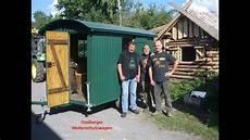 bauwagen selber bauen restaurierung eines waldarbeiterwagen wetterschutzwagen