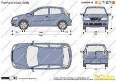 dimension fiat punto fiat punto 3 door vector drawing