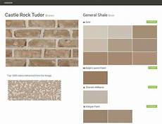 castle rock tudor brown brick general shale behr ralph paint sherwin williams