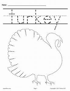 8 free printable thanksgiving tracing worksheets handwriting workshe supplyme