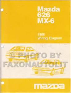 old car owners manuals 1988 mazda mx 6 security system 1988 mazda 626 and mx 6 wiring diagram manual original