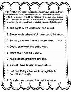 editable action linking and helping verbs worksheet by extraordinary ela