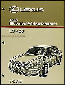 old car manuals online 2000 lexus lx free book repair manuals 1995 lexus ls 400 wiring diagram manual electrical schematic original ls400 oem ebay