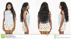 female model front and side front back side on indian model stock photo image 45637765