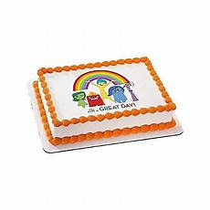 inside out quarter sheet edible cake topper each party supplies by size 8 5 quot x 11 quot by