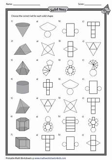 grade 5 geometry nets worksheets 828 solid 3d shapes worksheets