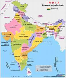 10 different states of india political map of india