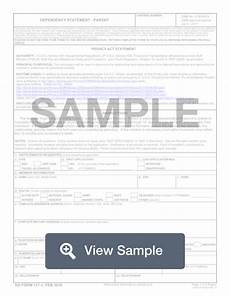dd form 137 3 dependency statement free pdf sle formswift