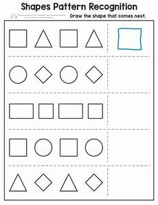shapes pattern worksheets kindergarten 1167 shapes pattern recognition for kindergarten itsy bitsy