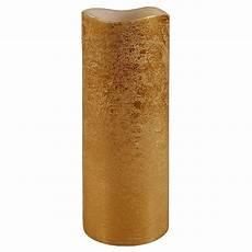 led echtwachs kerze 20 cm gold kabika de