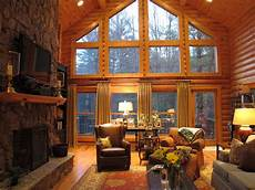 Cabin Living Room sew bee it dressing up windows and functionality