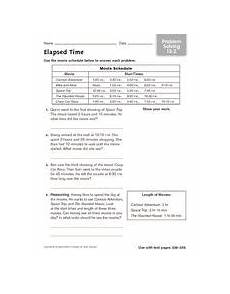elapsed time worksheets 5th grade word problems 3290 elapsed time problem solving 13 2 worksheet for 3rd 5th grade lesson planet