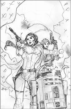 wars princess leia 3 cover pencils by terrydodson