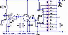 rangkaian led berjalan elektronika