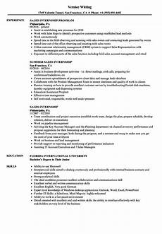 sales internship resume sles velvet