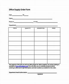 10 supply order templates free sle exle format download free premium templates