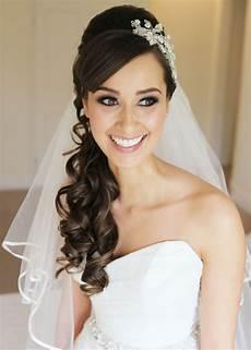 2019 popular wedding hairstyles with headband and veil