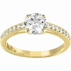 bague swarovski attract gold bague dor 233 e cristaux femme