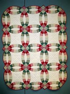 double wedding ring quilting stencils traditional double wedding ring quilt in green and