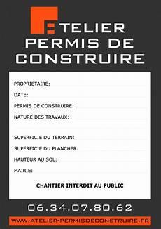 panneau affichage permis de construire exemple de permis de construire