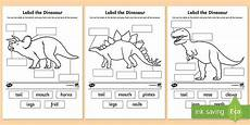 dinosaur characteristics worksheets 15288 label the dinosaur worksheet primary resources