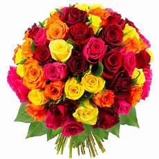 Bouquet De Roses Quot 70 Roses Multicolores Quot Livraison