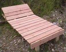 Bauanleitung Sonnenliege Garten Holz Bauplan Liege