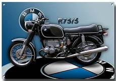 Bmw R75 5 Motorcycle Metal Sign 1970 S Classic Bmw