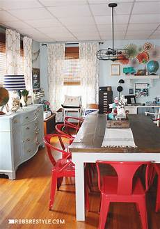 behind the blog home office and craft space dining room
