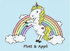 applikationsvorlage plotterdatei quot einhorn mit regenbogen