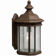 kichler outdoor wall light with clear glass in tannery bronze finish 9029tz destination lighting