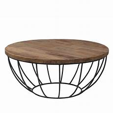 Table Basse Industrielle Ronde
