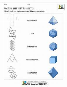 geometry nets worksheets 823 geometry nets information page with images 3d geometric shapes 3d shapes nets geometry