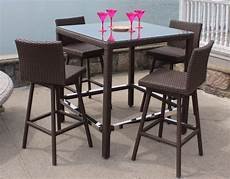 bar set patio wicker swivel bar set sonoma