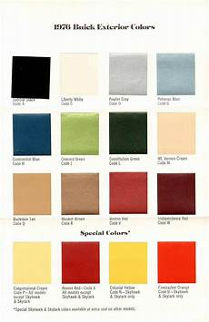 1976 buick exterior color chart colors pinterest exterior colors buick and cars