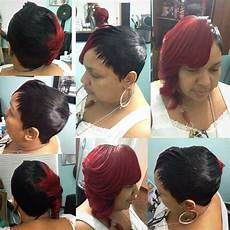 28 piece quick weave with feathers in 2019 short hair