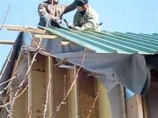 toit plat en tole pose de la toiture avec ang 233 lique et jean bernard