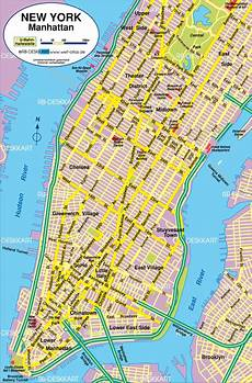 Map Of New York Manhattan City In United States Welt