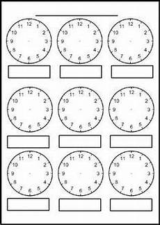 teaching time printable clock 3714 worksheet containing 9 analogue clocks showing o clock half past quarter to and quarter past