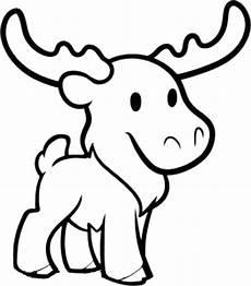 moose coloring page moose coloring page color