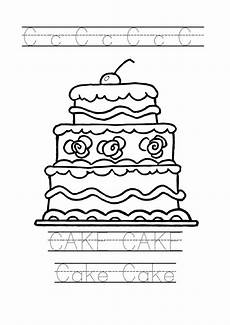 birthday cake printable worksheets 20255 tracing word cake worksheet cake coloring page for preschool birthday cake clip cake