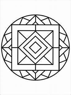 simple mandala coloring pages for adults free printable