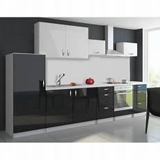 cuisine noir pas cher cuisine compl 232 te 320 cm oxin laqu 233 e