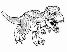 malvorlagen lego jurassic world t rex dino ausmalbild