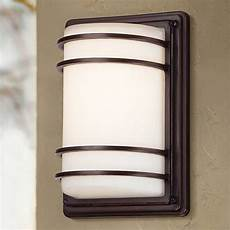 this contemporary led outdoor lighting fixture has a sleek low profile design and a handsome