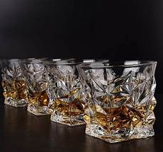 Set Of 4 Clear Whiskey Glasses Scotch Bourbon