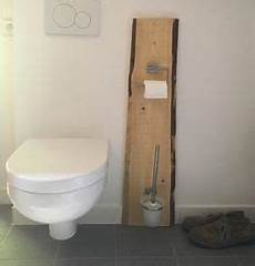 Klorollenhalter Mit Bürste - klopapierhalter toilettenpapierhalter holz dunkel mit wc